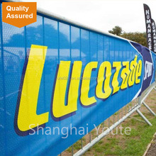 Custom Temporary Fence Mesh Banner and Shade Cloth Banners Signs with high quality
