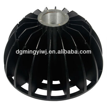 Aluminum alloy die casting parts 80 watt miner's lamp with CNC machining made in China