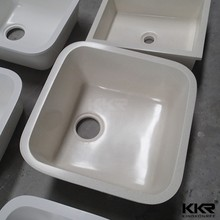 Sanitaryware double sink artificial marble colorful kitchen basin