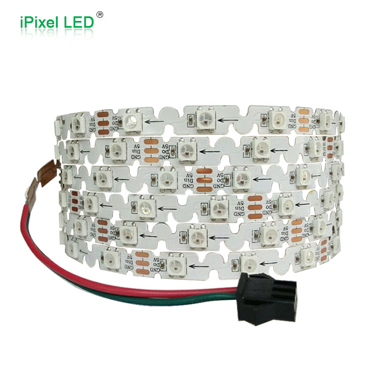 Addressable S Shape LED strip 5mm width 48leds/m sk6812 led strip DC5V