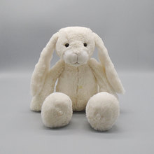 OEM long ear white and pink bunny soft toy rabbit