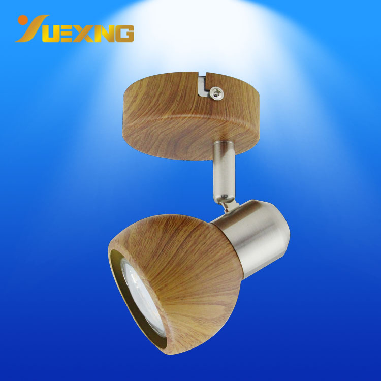 new surface  mounted led spot light wall lamp wood color GU10 LED bulb spotlight