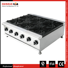 6-Burner Commercial Kitchen Equipment Gas Countertops Cookering Range
