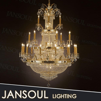 church candelabra large pendant light empire style crystal chandelier