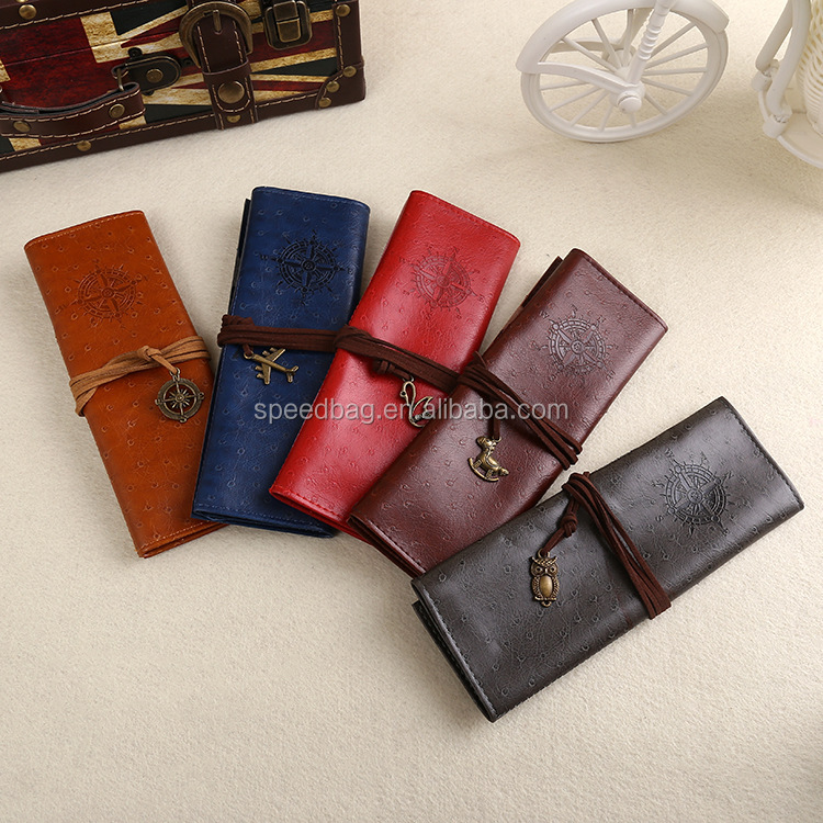Students welcome TV hot sale leather bag leather pen case/bag pencil box bag leather