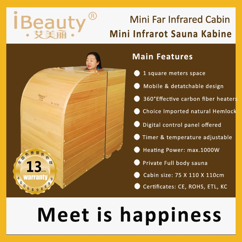 CE,ROHS approved Infrared Sauna dry sauna with canadian hemlock wood