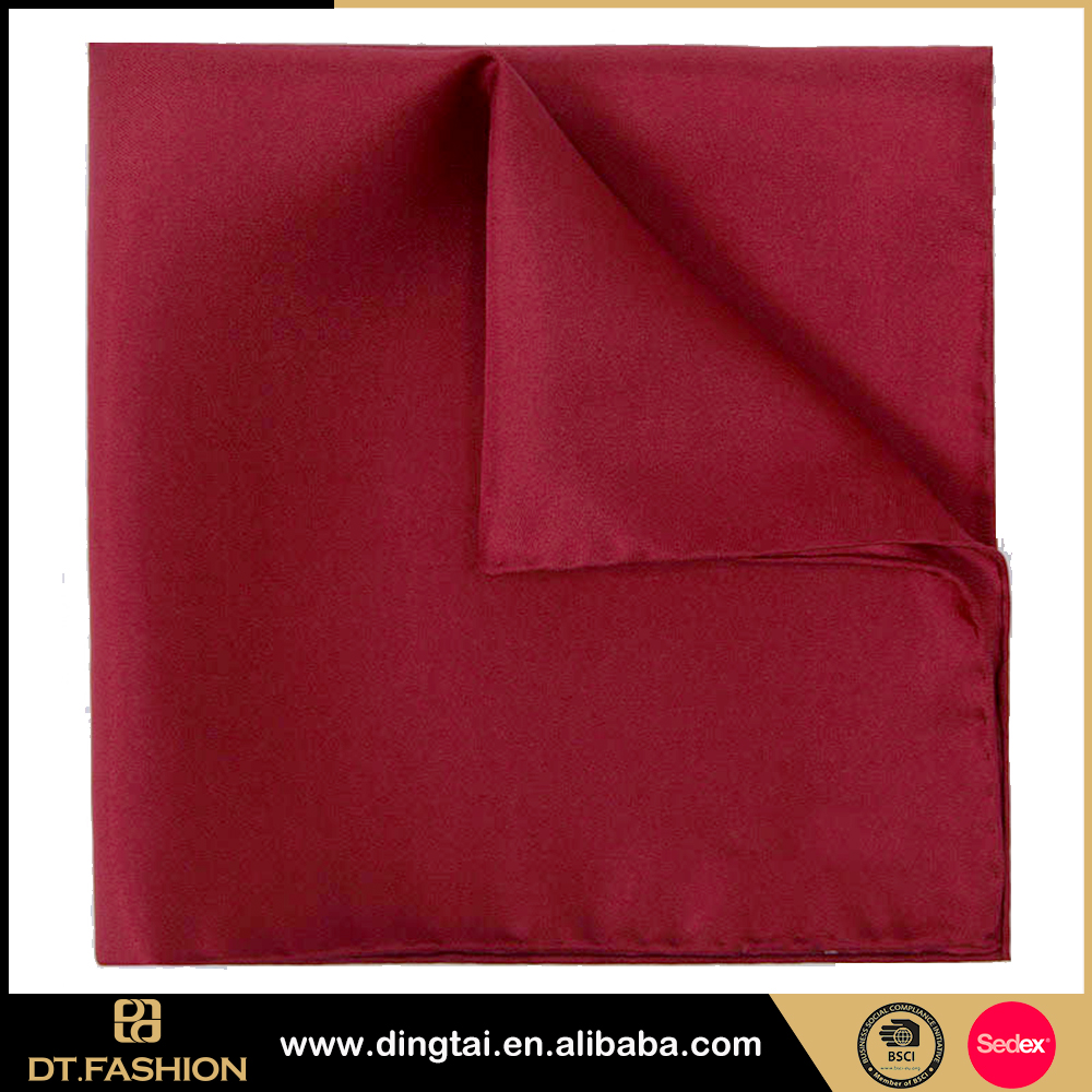Hot selling cheap women fancy handkerchief silk pocket square