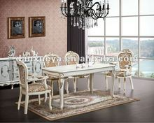 2013 modern dining room furniture DXY-AY003 Carved wooden dining table and chairs