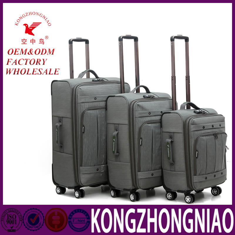 Wholesale Soft And Light Weight Leisure Travel Luggage Bag 3 piece Set from China supplier