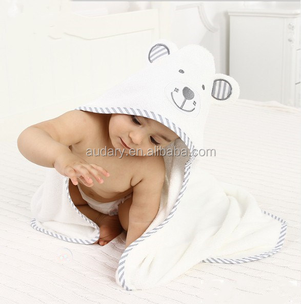 Super soft quality Hooded Baby Towel Ultra Soft Baby Towels Antibacterial and Hypoallergenic Organic Bamboo Bath Wrap with Hood