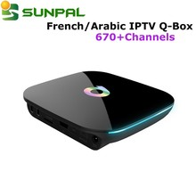 free web tv smart android set top box Q BOX best French iptv arabic ip tv STB with IPTV Account in Stock