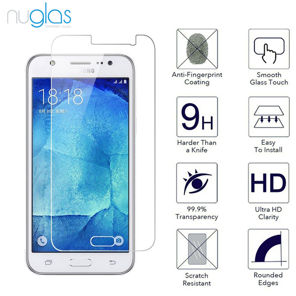2016 Hot New Products High Quality Nuglas Mobile Phone Tempered Glass Screen Protector for Samsung Galaxy J5(2016)