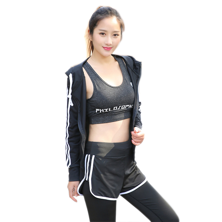 PT Sports Three Piece Sports Suit Yoga Suit Running Sportswear sports wear Bra Pants Long Sleeve Jackets For <strong>Womens</strong>