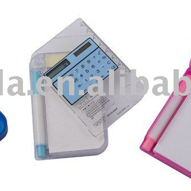 multifunctional student calculator with pen,notepaper,magnifier