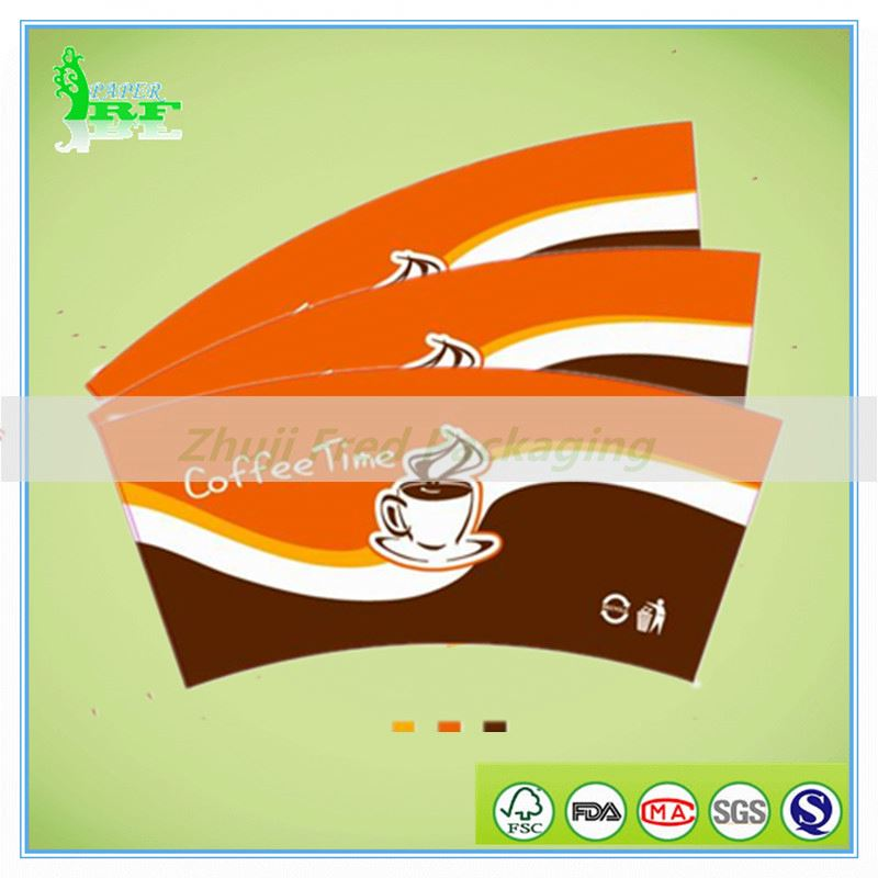 Dropshipping Wholesale PE Coated Paper Cup Fan, Flexographic Or Offset printing, 160gsm~330gsm