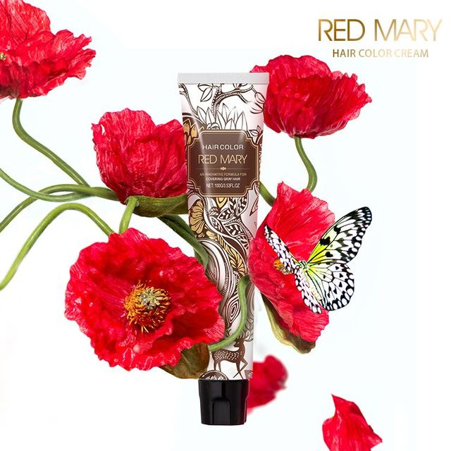 Latest Design Popular Red Mary Hair Dye Product Permanent Chocolate Hair Color Cream