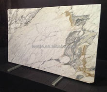 Direct Factory White Tiles Polished 24x24 Calacatta Gold Oro Marble Slab Price