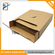 Printing Cheap Recycled Kraft Paper Box CD/DVD Set Sleeve Packaging Holder Box