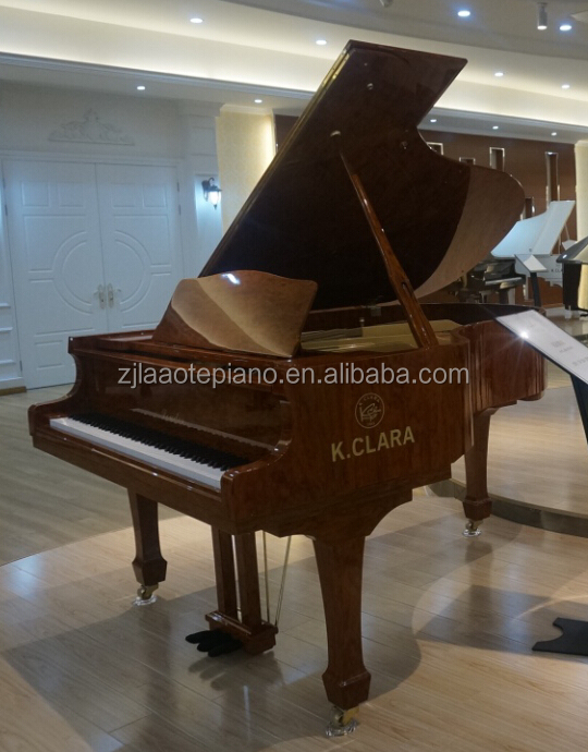 Big discount for Best price beautiful walnut brown grand piano wooden acoustic piano baby grand piano AC-160WA