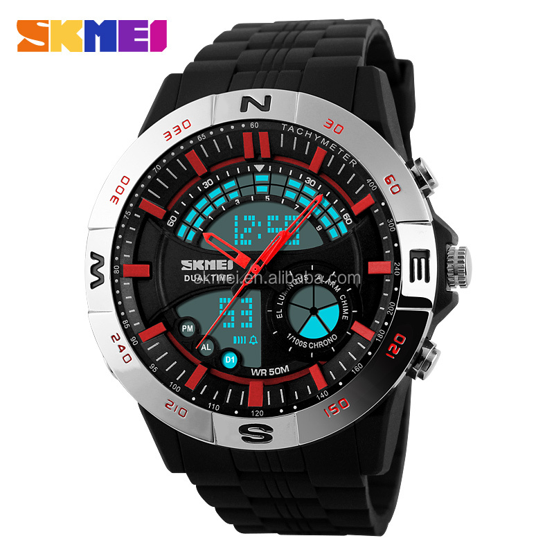 china new products us army watches for men analog digital dual time plastic watch with multifunction