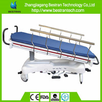 CE Luxurious 5 function hydraulic medical Patient Trolley transfer hospital bed