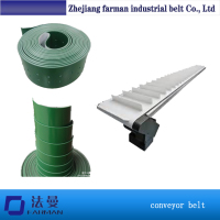 Farman Modular Plastic Pu Cleated Conveyor Belt With Baffle Plate For The Food Industry