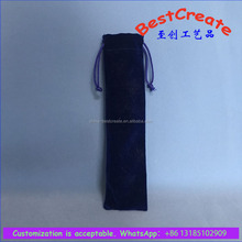 Custom velvet pen wrap durable drawstring voice recorder packing pouches
