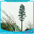 large telecommunication camouflaged pine tree tower communication antenna pole station