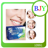 Home Use CE Approve Dental Bleaching White Tooth Strip 14 Pouches Per Box Teeth whitening Strips