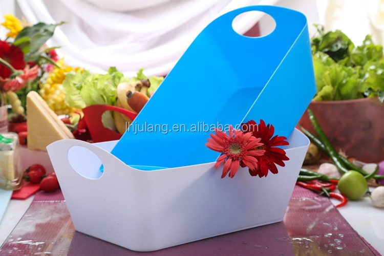 2018 durable plastic Storage basket With handle