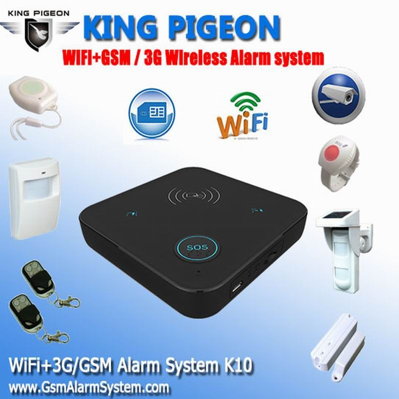 K10 Newest classic product wireless home alarm with wifi alarm system for ip alarm system panel