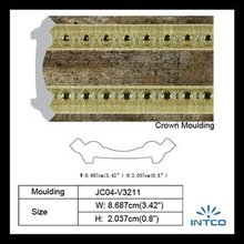 INTCO Waterproof Plastic quarter round decorative moulding