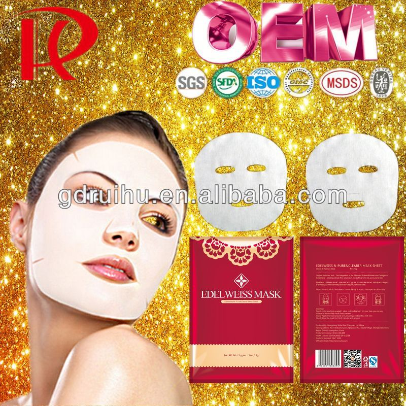 personal beauty care accessory disposable spa compressed facial mask