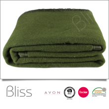 High quality wool custom 100% polyester thick blanekt army blanket military blanket