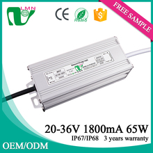 25-36V 1800ma waterproof constant current led driver