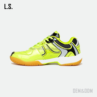 New arrived fashion mens tennis shoe athletic sport badminton shoe lemon yellow mens sport shoe
