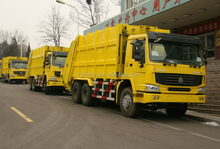 SINOTRUK garbage truck dimensions 12-21m3 / roll on roll off garbage truck
