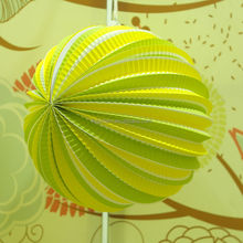 wholesale hanging handmade watermelon paper lantern for wedding decoration