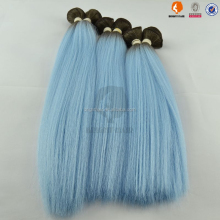 New style Darling colorful yaki light blue hair extension