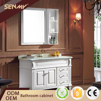 Country Style Bathroom Furniture Oak Solid Wood Bathroom Cabinet