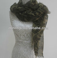 Camouflage fabrics polyester printing scarf