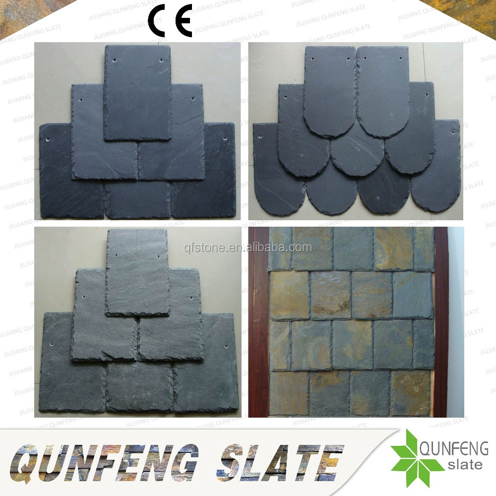 CE Passed Erosion Resistance Antacid Nature Stone Tile China Roofing Slate