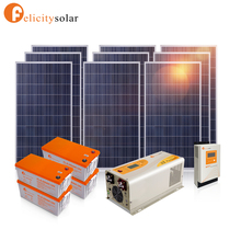 Easy install off grid 3000w solar panel system for home use with battery backup