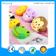 Personalized cartoon style pencil eraser custom shape eraser for school and office