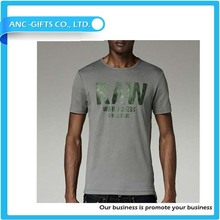 Stylish plain cotton blank t shirt wide neck men with lower price