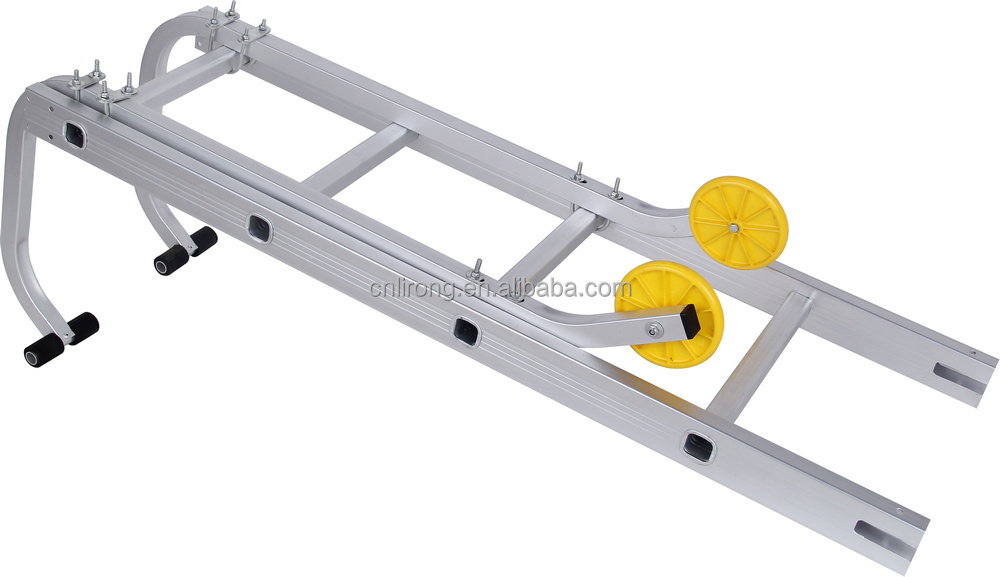 Aluminium Alloy ladder with Double Wheels Hook