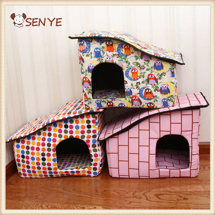 Factory New Product Cute Indoor Pet Sleeping Soft Fabric Dog House For Sale