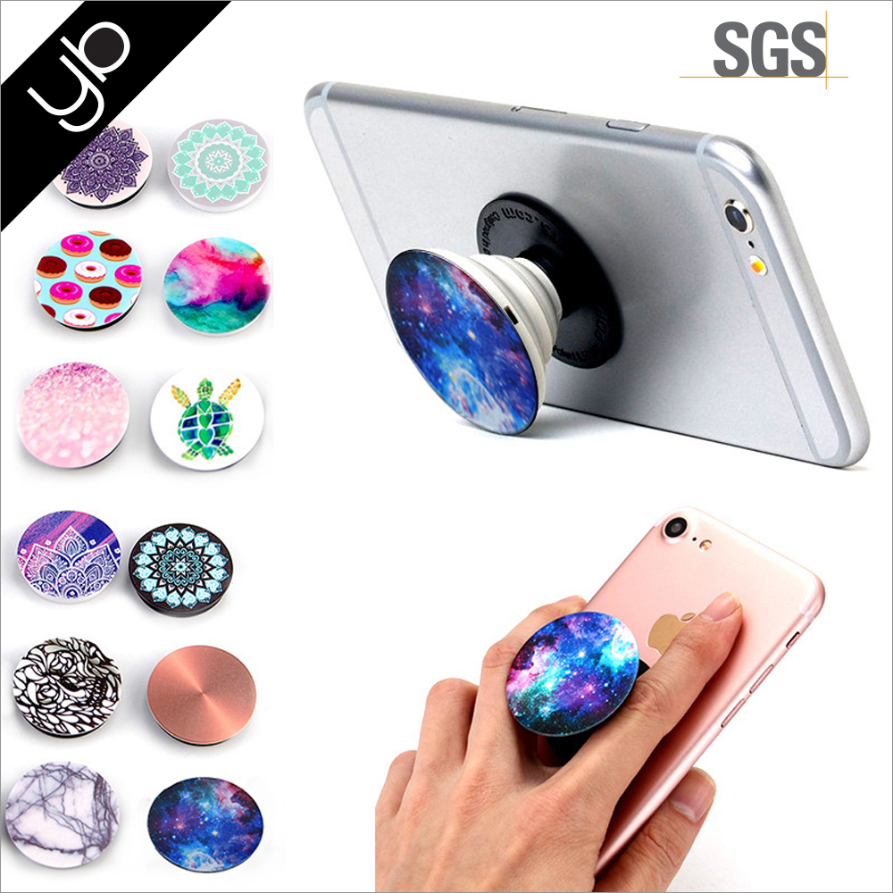 Hot selling phone accessories mobile Balloon retractable Rotating Finger Ring holder for mobile phone
