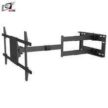 Easy Installation 180 Degree Swivel Long Arm Full Motion TV Wall Mount With White or Black Color