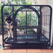 48 dog crate galvanized steel dog show trolley cage pet kennel